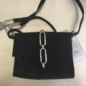 NWT Black Leather Zara crossbody